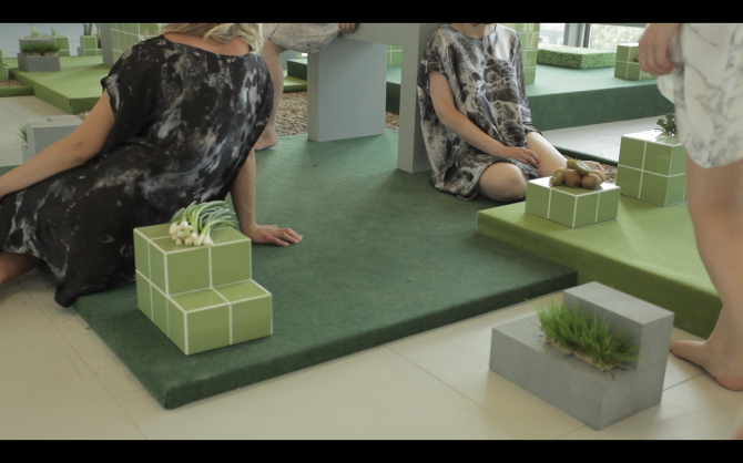 Still from Garden City, a collection and location for a film, Goldsmiths MFA Degree Show