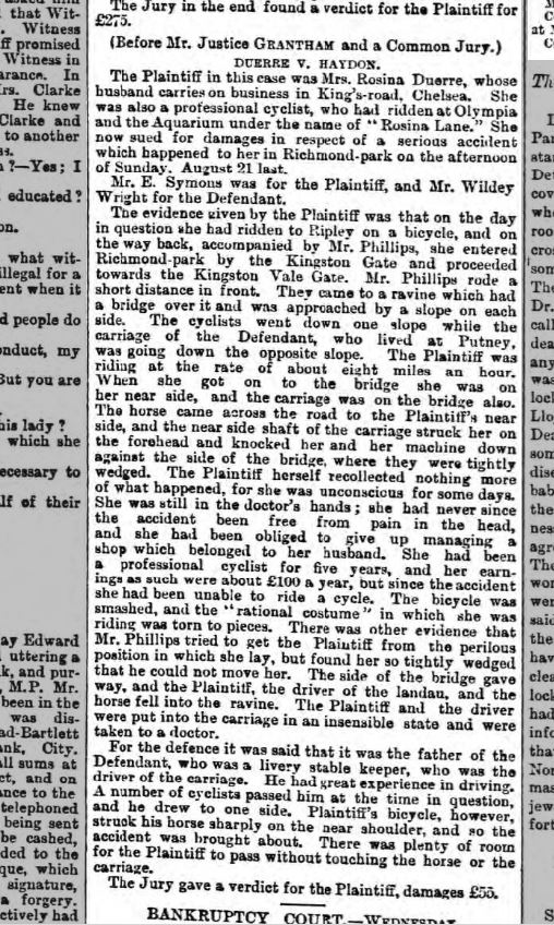 The Morning Post Thursday 9th March 1889